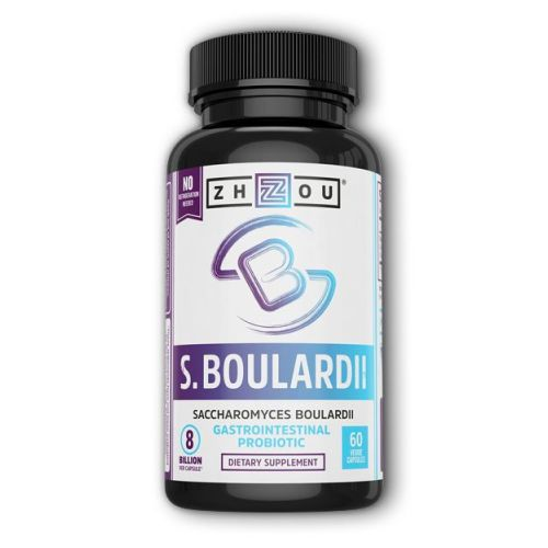 Saccharomyces Boulardii 60 Veg Caps by Zhou Nutrition It truly all starts with gut health a healthy gut helps to promote overall health of your brain and body  and S. Boulardii is here to help support the gut with good bacteria so you can experience healthier  happier digestion. Most probiotics require refrigeration to stay potent  but our formula is shelfstable and perfect for an onthego lifestyle.