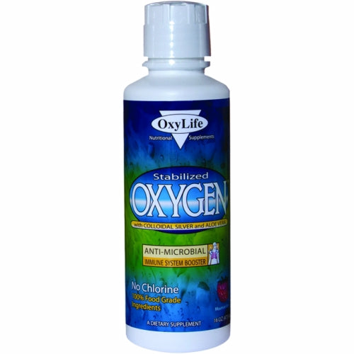 Oxygen with Colloidal Silver Aloe Vera Orange/Pineapple 16 Oz by Oxylife Products