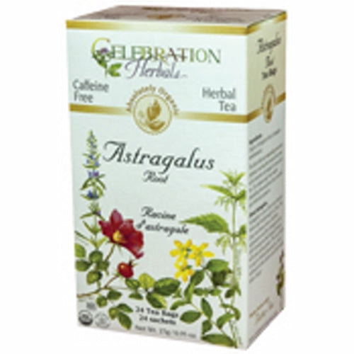 Organic Astragalus Root Tea 24 Bags by Celebration Herbals