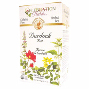 Organic Burdock Root Tea 24 Bags by Celebration Herbals