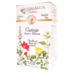 Celebration Herbals Teabags Herbal Catnip Leaf and Blossom Organic - 24 Herbal Tea Bags