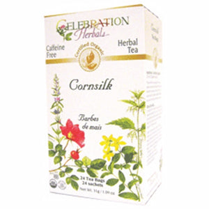 Organic Cornsilk Tea 24 Bags by Celebration Herbals