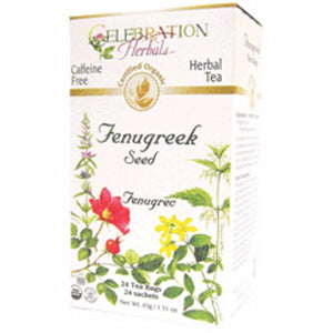 Organic Fenugreek Seed Tea 24 Bags by Celebration Herbals