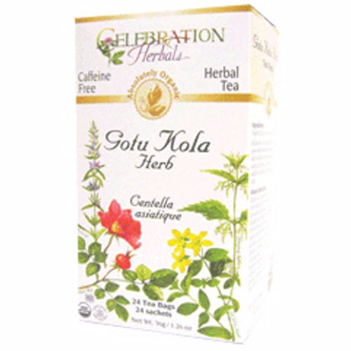 Organic Gotu Kola Tea 24 Bags by Celebration Herbals