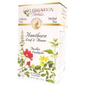 Organic Hawthorn Leaf & Flower Tea 24 Bags by Celebration Herbals