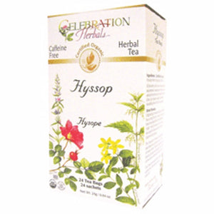 Organic Hyssop Herb Tea 24 Bags by Celebration Herbals