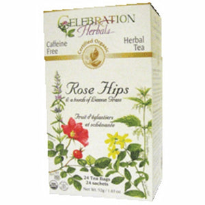 Organic Rose Hips with Lemongrass Tea 24 Bags by Celebration Herbals