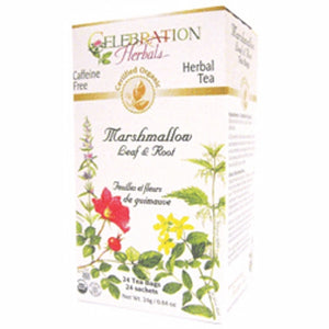 Organic Marshmallow Leaf & Root Tea 24 Bags by Celebration Herbals