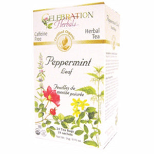Organic Peppermint Leaf Tea 24 Bags by Celebration Herbals