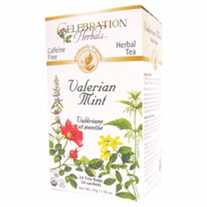 Organic Valerian Mint Tea 24 Bags by Celebration Herbals