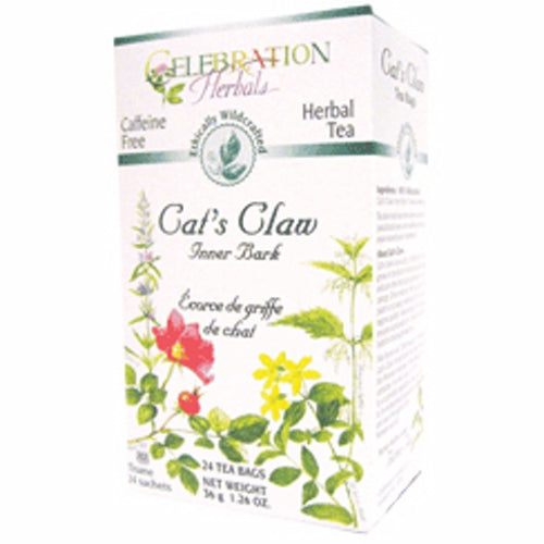 Cat's Claw Inner Bark WildCraft Tea 24 Bags by Celebration Herbals
