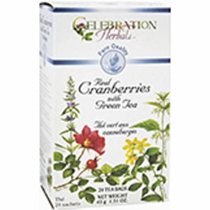 100% Pure Cranberry Organic Tea 24 Bags by Celebration Herbals