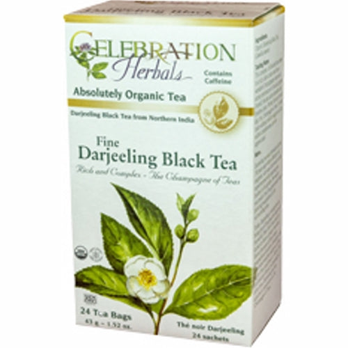 Organic Darjeeling Black Tea 24 Bags by Celebration Herbals