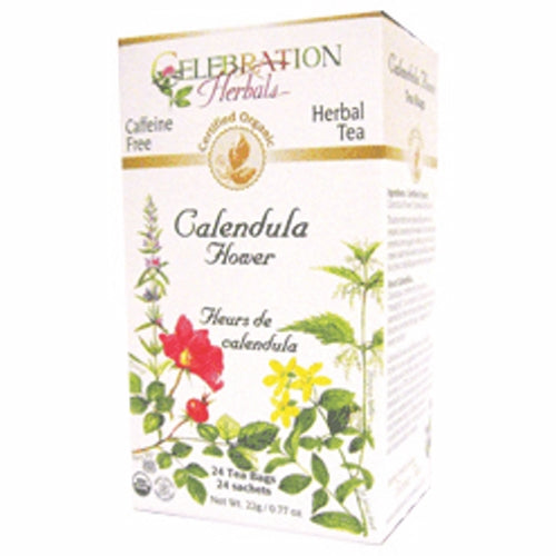 Organic Calendula Flowers Tea 24 Bags by Celebration Herbals