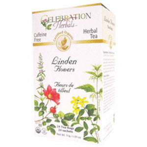 Organic Linden Flowers Tea 24 Bags by Celebration Herbals