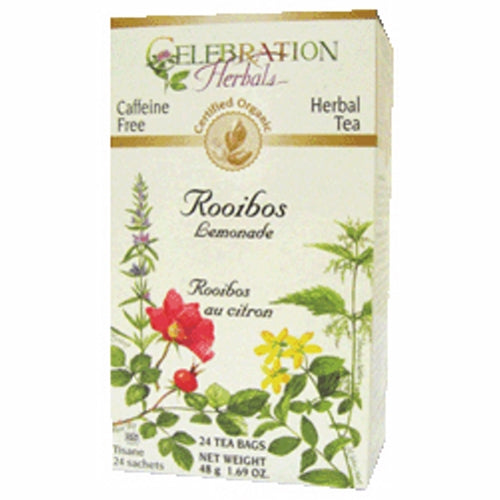 Organic Rooibos Red Tea Lemongrass 24 Bags by Celebration Herbals
