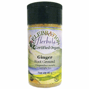 Ground Organic Ginger Root 40 grams by Celebration Herbals