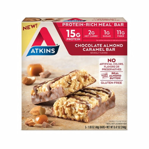 Protein Rich Meal Bar Chocolate Almond Caramel 5 Count by Atkins