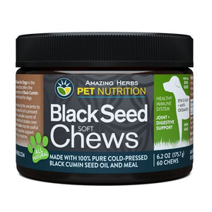 Black Seed Soft Chews for Dogs 6.2 Oz by Amazing Herbs