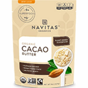 Organic Cacao Butter 8 Oz by Navitas Naturals