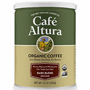 Fair Trade Dark Blend Roasted Ground Coffee 12 Oz by Cafe Altura