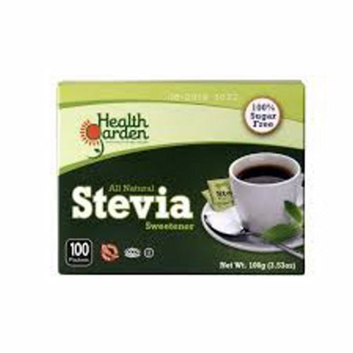 Stevia Sweetener 100 Packets by Health Garden