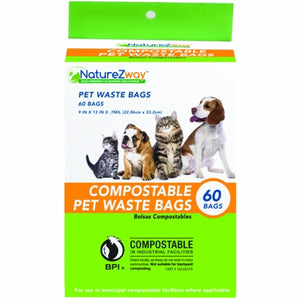 Pet Waste Bags 60 Count by Naturezway