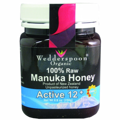 Raw Manuka Honey Kfactor 12 8.8 Oz by Wedderspoon Manuka honey is hazelnut in color falling into the Dark Amber category on the Pfund color grading system. KFactor 12 indicates that 65% of the pollen is guaranteed to contain pollen grains that are specific to the manuka flower.