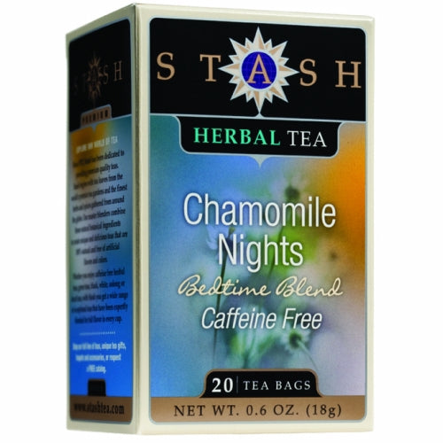 Herbal Tea Chamomile Nights Caffeine Free 20 Count by Stash Tea