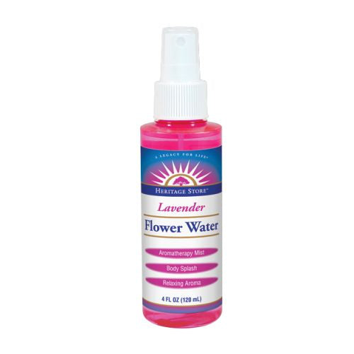 Flower Water LAVENDER ATOMIZER, 4 OZ by Heritage Store