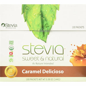 Caramel Stevia Powder 100 Count by Anumed International