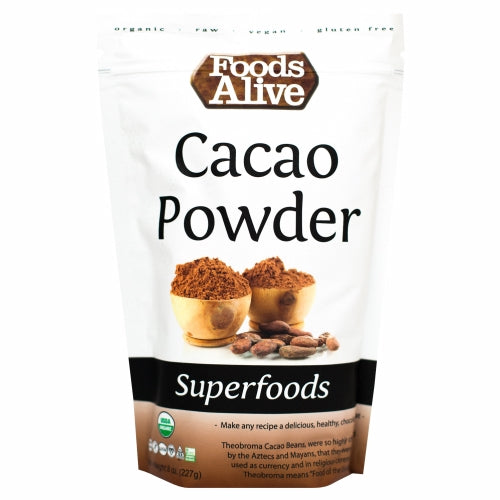 Organic Cacao Powder 8 Oz by Foods Alive