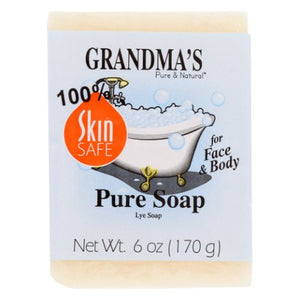 Pure Lye Bar Soap 6 Oz by Grandmas Pure & Natural