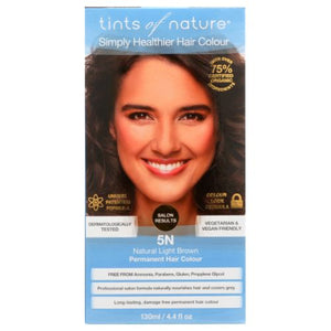 Permanent Hair Color 5N Natural Light Brown 4.4 Oz by Tints of Nature
