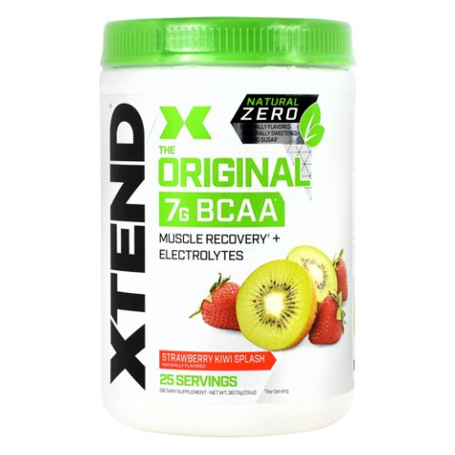 Natural Zero Xtend Strawberry Kiwi Splash 25 Each by Scivation Natural Zero  Naturally Flavored  Naturally Sweetened  Zero Sugar. The Original. 7g BCAA. Muscle Recovery + Electrolytes. The Official Recovery Brand of Champions. Xtend Natural Zero Is Free of Artificial Sweeteners  Flavors  And Chemical Dyes  its The Naturally Flavored Version Of Our AwardWinning Xtend Recovery And Performance Formula. Powered By 7 Grams Of BranchedChain Amino Acids (BCAAs)  Which Have Been Clinically Shown To Support Muscle Recovery And Growth  Xtend Natural Zero Also Contains Hydrating Electrolytes And Additional Performance Ingredients To Help You Refuel  Repair  And Recover. Try Each Mouthwatering  Naturally Sweetened Flavor Of Xtend Natural Zero To Fuel Your Health And Fitness Goals. The Natural Zero Promise  Naturally Flavored. Naturally Sweetened. Zero Sugar.