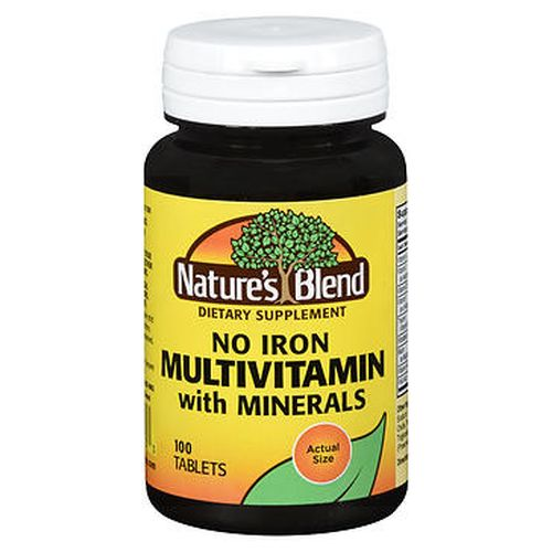 NatureS Blend No Iron Multivitamin With Minerals Tablets 100 Tabs by Natures Blend NatureS Blend No Iron Multivitamin With Minerals Tablets 100 Tabs by Natures Blend