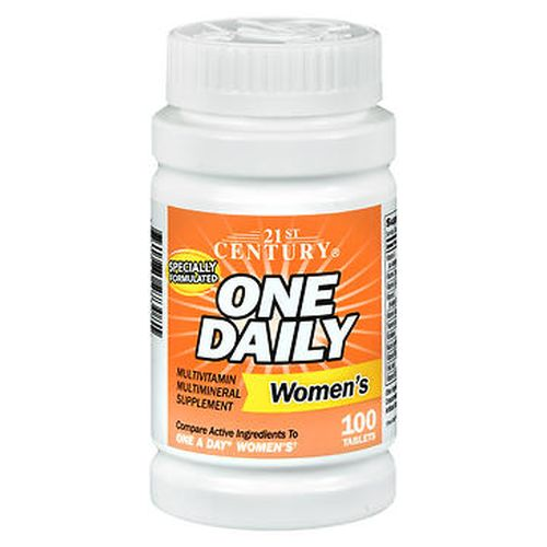 One Daily Womens Multivitamin Multimineral Supplement 100 Tabs by 21st Century One Daily Womens Multivitamin Multimineral Supplement 100 Tabs by 21st Century