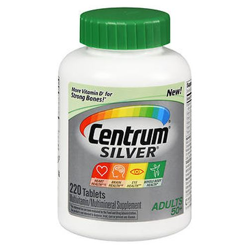 Centrum Silver Adults 50+ Multivitamin  Multimineral Tablets 220 Caps by Centrum Centrum Silver Adults 50+ Multivitamin  Multimineral Tablets 220 Caps by Centrum