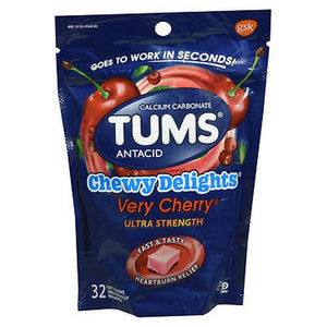 Tums Chewy Delights Ultra Strength Soft Chews Very Cherry