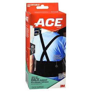 Ace Work Belt Back Support With Removable Suspenders Adjustable