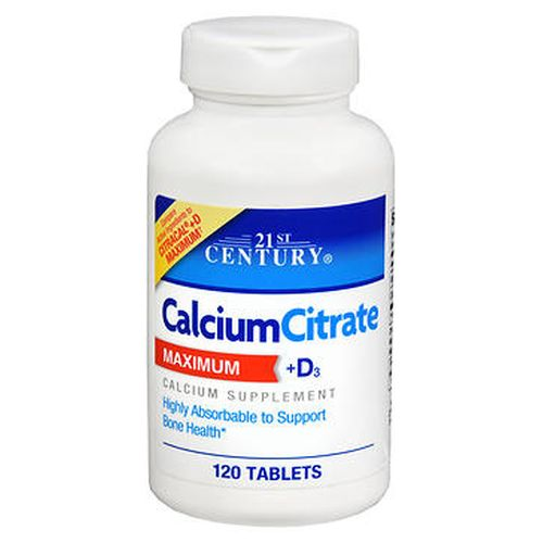 21st Century Calcium Citrate Maximum + D3 Tablets 120 Tabs by 21st Century 21st Century Calcium Citrate Maximum + D3 Tablets 120 Tabs by 21st Century