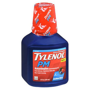 Tylenol Pm Extra Strength Liquid Bedtime Berry - 8 Oz (240ml)