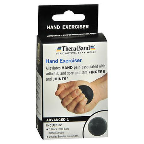 TheraBand Hand Exerciser 1Each by TheraBand Hand exerciser alleviates hand pain associated with arthritis  and sore and stiff fingers and joints.* TheraBand products are the1 most used and recommended by therapy professionals worldwide. We know that by staying active you help your body stay healthy and strong  so you can live well today and every day. Easy to use. Easy to hold and grip for those with limited hand mobility. Clinically used and recommended exercises. Strength builds key muscle strength to support movement and muscle endurance. Heat therapy to provide soothing relief to sore muscles and joints. Cold therapy to provide cooling relief during use.