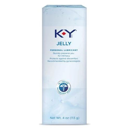 K-Y Jelly Personal Lubricant 4 Oz by K-Y Provides personal lubrication to comfort dry intimate areas. Lubricates condoms and eases insertion of rectal thermometers and enemas. Designed to stay where you want it. Fragrance-free. Non-greasy. Compatible with latex condoms only. Quickly prepares you for intimacy. Protects against discomfort. Recommended by gynecologists.