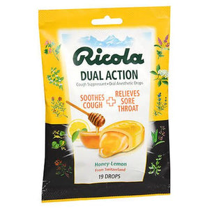Ricola Dual Action Drops Honey-Lemon