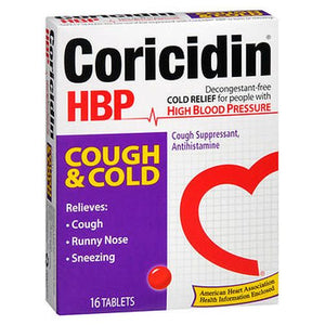 Coricidin HBP Cough & Cold Tablets