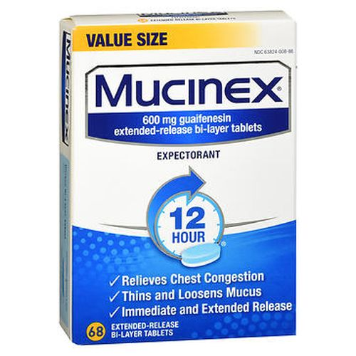 Mucinex Expectorant Tablets 68 Tabs by Mucinex Mucinex Expectorant Tablets 68 Tabs by Mucinex