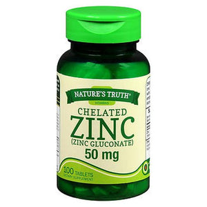 Nature'S Truth Chelated Zinc Tablets 100 Tabs by Nature's Truth