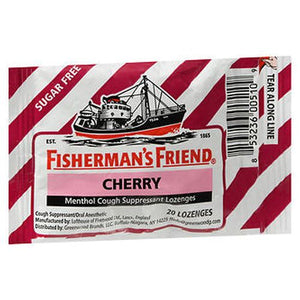 Fisherman's Friend Menthol Cough Suppressant Lozenges Cherry Sugar Free