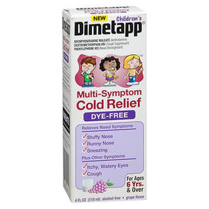 Dimetapp Children's Multi-Symptom Relief Liquid Dye-Free Grape Flavor